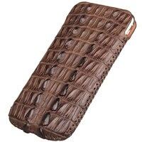 Натуральная кожа крокодила чехол для Apple iPhone 7 8 6 6s плюс роскошный оригинальный из кожи крокодила телефон Чехол Сумки случаях