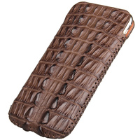Genuine Crocodile Leather Case For Apple iPhone 7 8 6 6s Plus Luxury Original Crocodile Leather Phone Holster Pouch Bags Cases