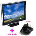 """5 """"TFT LCD Monitor Do Carro HD 170 Carro monitor + Universal 18.5mm Câmera de visão traseira frente da câmera 2 em 1 Sistema De Assistência de Estacionamento Automático"""