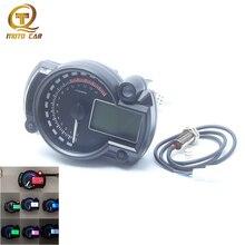 Universal Digital Motorcycle Speedometer Odometer Adjustable Tachometer DC 12V Speed 7 Color LCD Screen Backlight MAX 299 KM/H