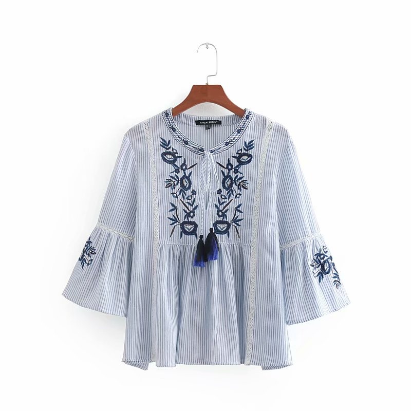 Blouses & Shirts Feitong Fashion Womens Ladies Boho Bandage V Neck Tops Printed Short Sleeve Shirt Loose Blouses Tops Summer Blouse Female Blusa To Win Warm Praise From Customers