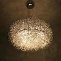 20 Алюминиевые проводы гнездо Обеденная подвесной светильник Стекло яйцо Ресторан Кабинет лампы Стекло овальный мяч 8 ламп подвесной свети