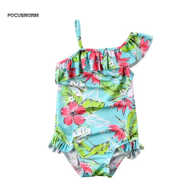 63087f9716 Floral Print Cute Fashion Summer Toddler Kid Baby Girl Bikini Set Swimwear  Swimsuit Bathing Suit Beachwear Outfit 1-6Y