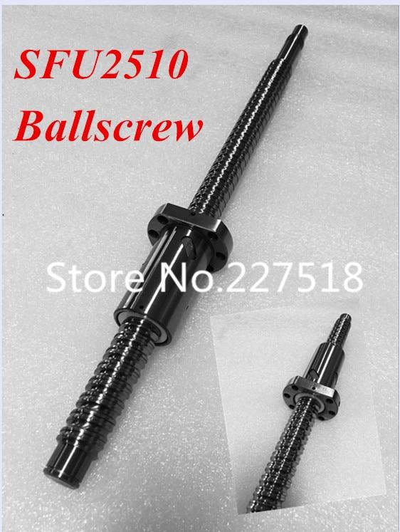 1pc 25mm Ball Screw Rolled C7 ballscrew SFU2510 1550mm BK20 BF20 end processing+1pc SFU2510  Ballscrew nut1pc 25mm Ball Screw Rolled C7 ballscrew SFU2510 1550mm BK20 BF20 end processing+1pc SFU2510  Ballscrew nut