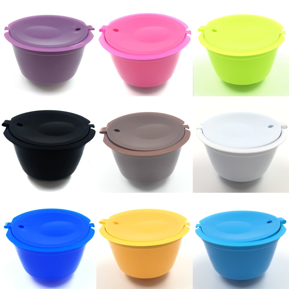 buy 1pcs 9 colors reusable dolce gusto coffee capsule plastic refillable. Black Bedroom Furniture Sets. Home Design Ideas