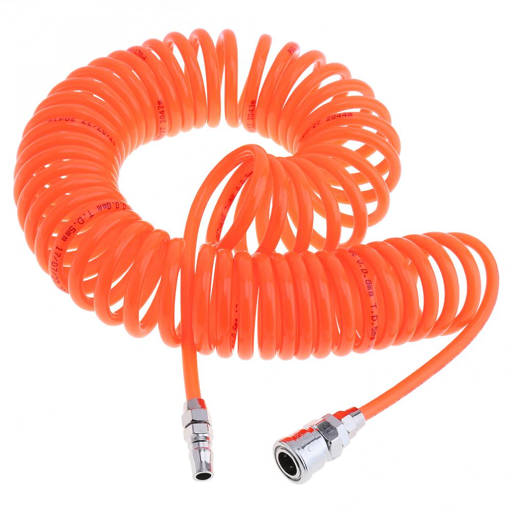 Toro 9m 5 X 8mm Flexible Durable Pu Recoil Hose Spring Tube With Fast Interface And Thicker Trachea For Compressor Air Tool Back To Search Resultstools Pneumatic Tools