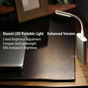 Image 2 - 2 pièces/lot Original Xiaomi USB lumière LED avec interrupteur 5 niveaux luminosité USB pour batterie dalimentation/ordinateur Portable Portable, lumières LED portables