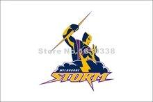 Melbourne Storm Flag 3ft X 5ft National Rugby League NRL Banner Size 4 144* 96cm Flag