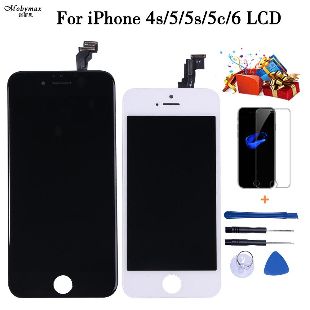 Qualidade AAA +++ Tela Sensível Ao Toque Para iPhone 5G 5S 5 5c SE Display LCD com a Montagem Digitador Nenhum Morto pixel com 3 Presentes Frete Grátis