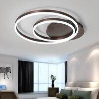 新しい現代の led シーリングライトリビングルームの寝室のランプ天井ブラウンアルミラウンド Led シーリングランプ lamparas デ手帖 -