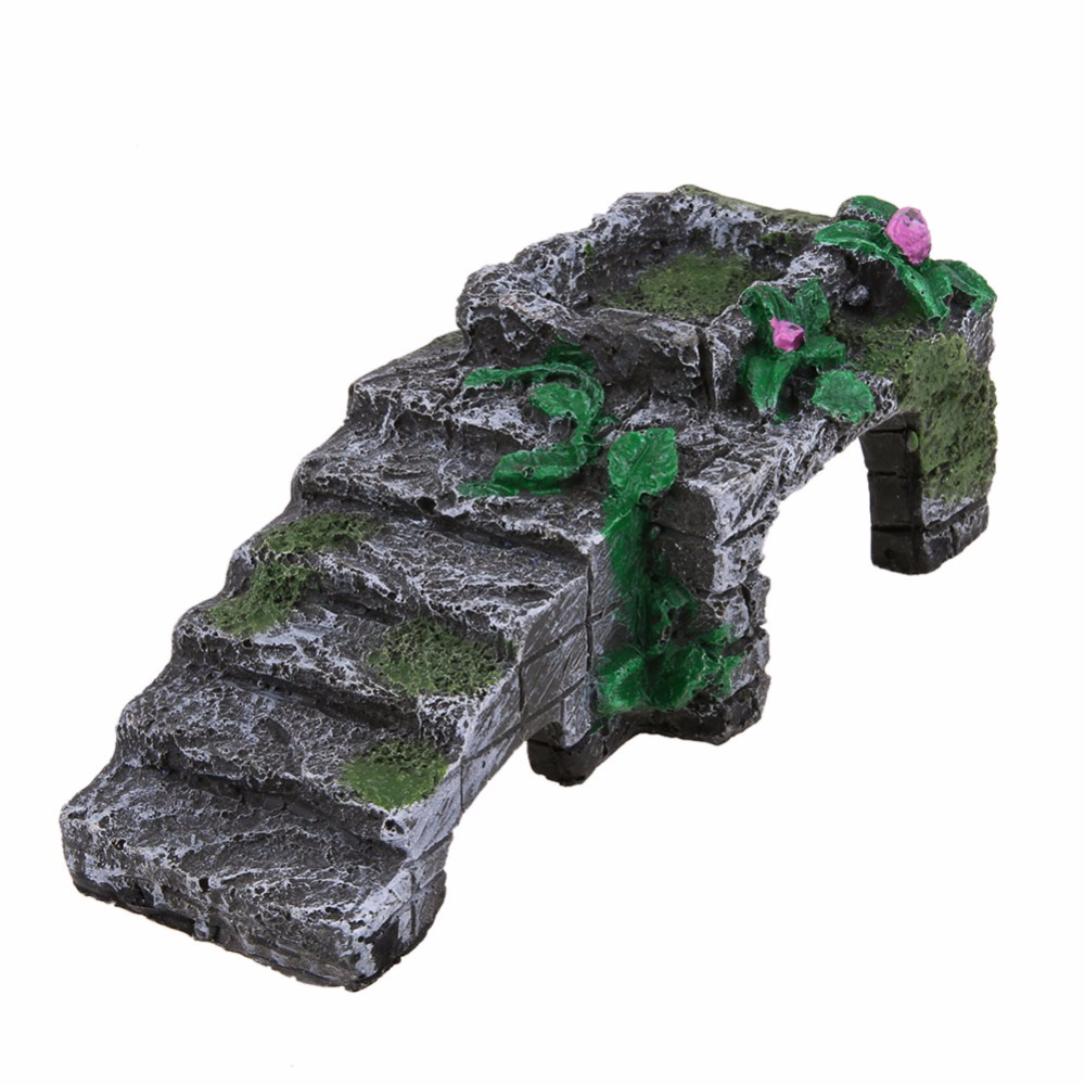 Resin Turtle Reptile Platform Toy Basking Ramp Tank Island Water Aquatic Climb Ornament Aquarium Amphibian Climb Tank Staircase
