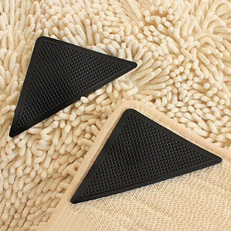Hot Sale Rug Grippers Washable Carpet Grippers Non Slip Mat Reusable Mat Grippers Silicone Grip For Home Bathroom 4pcs/set