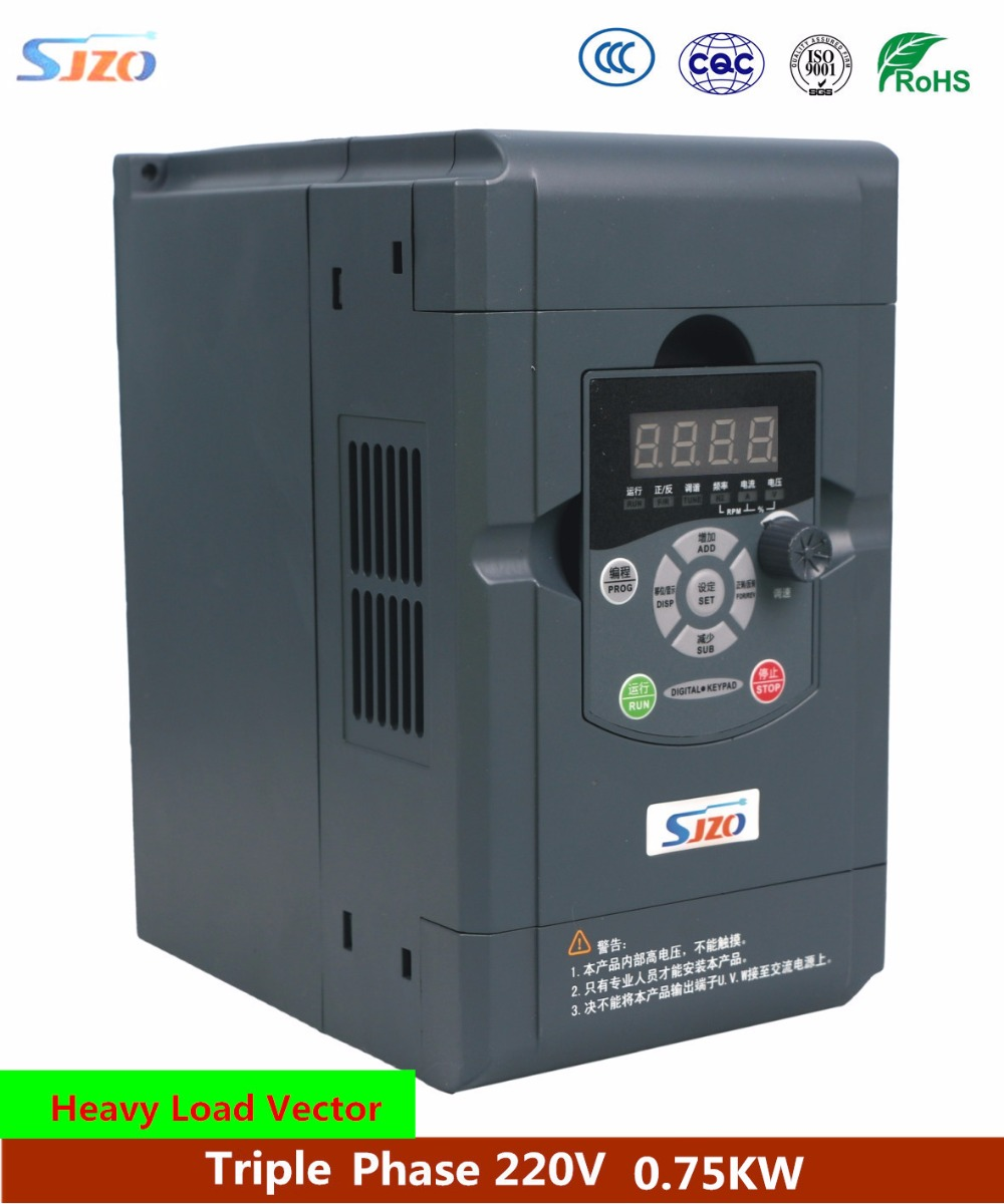 цена на SJZO 511 Series 0.75KW AC driver frequency inverter Vector VF Control VFD Motor Variable Speed Drive Triple Phase 380V Converter