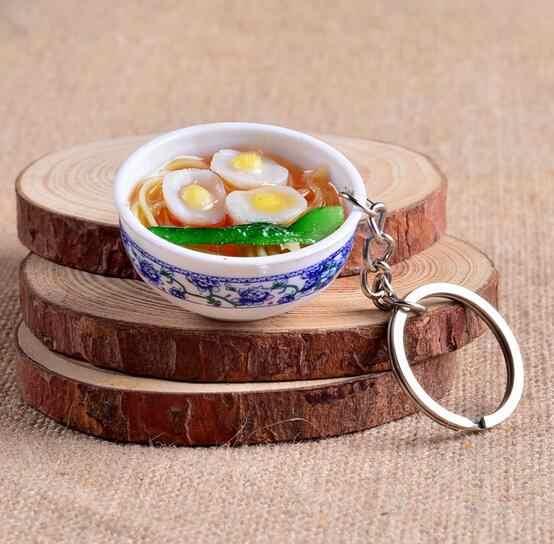 10 Cái Mini Thực Phẩm Mô Phỏng Key chain Dễ Thương Xe Bag keychain Thống Bowl Túi Thực Phẩm charm Vòng Chìa Khóa EE12