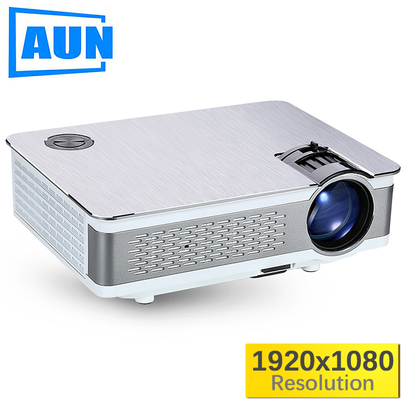 AUN Full HD Projector. AKEY5. 1920x1080P, 3800-5500Lumen(Peak)(Optional Android,WIFI,Bluetooth) LED Projector Video Home Theater aun new hd projector support wifi bluetooth built in android os 4 2 system 3d projector for home cinema led projector v5g5