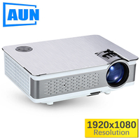 AUN Full HD Projector. AKEY5 UP. 1920*1080P, 3,800 Lumens, Android Beamer with WIFI, Bluetooth, LED TV. Optional AKEY5 IMP 5803