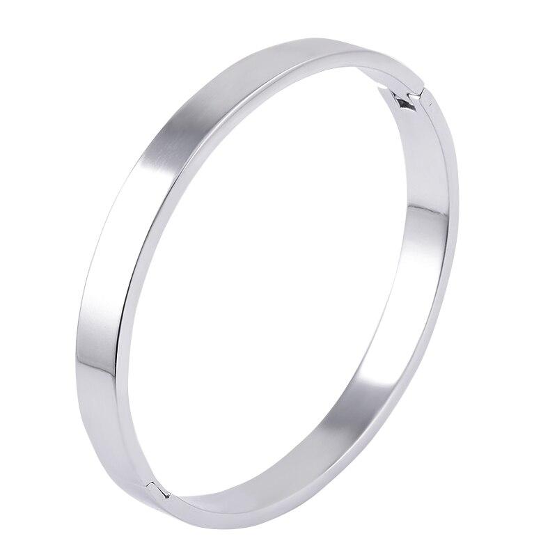 TB-3 Männer Frauen Größe 316L Edelstahl Armband Mode Marke Schmuck Paar Hochzeit Geschenk Armband mit Sechs Schraube