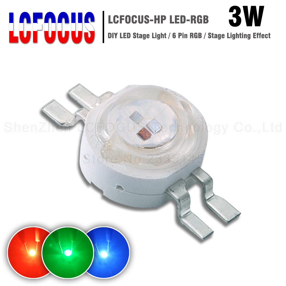 High Power LED Chip 3W RGB COB SMD Diode 1W Red Green Blue 4 Pin Full Color For LED Stage Light Landscape Lighting Effect