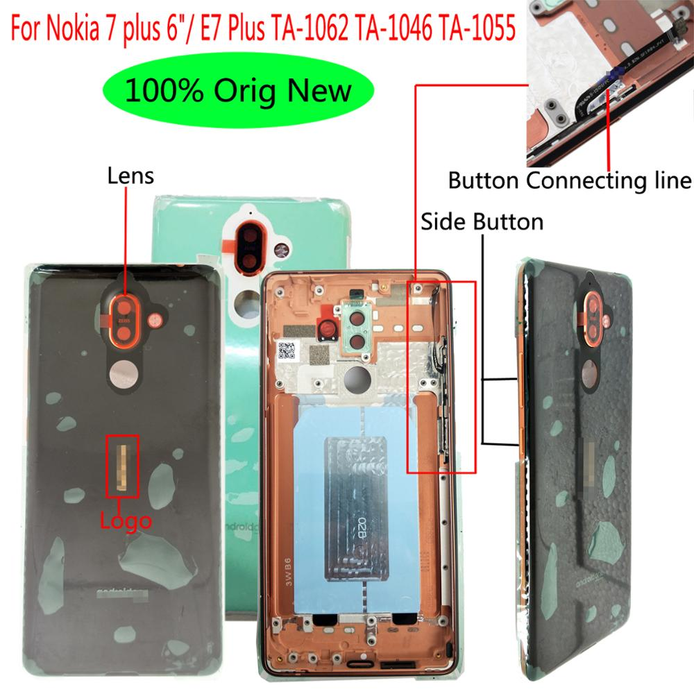 """Shyueda 100% Orig New 6"""" For Nokia 7 plus E7 Plus TA-1062 TA-1046 TA-1055 Rear Back Door Housing Battery Cover with lens(China)"""