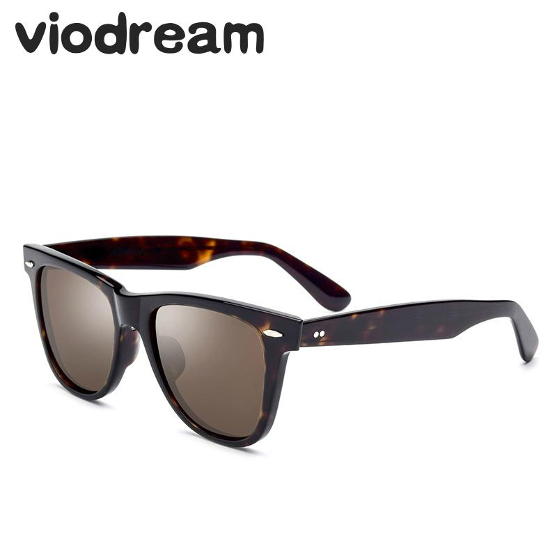 Viodream Men Women Large Frame Sunglasses Drivers Goggle Acetate Vintage Sun glasses High end Luxury Sunglasses Oculos De Sol