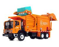 KAIDIWEI 1/43 Scale Diecast Material Transporter Garbage Truck KDW Model Orange