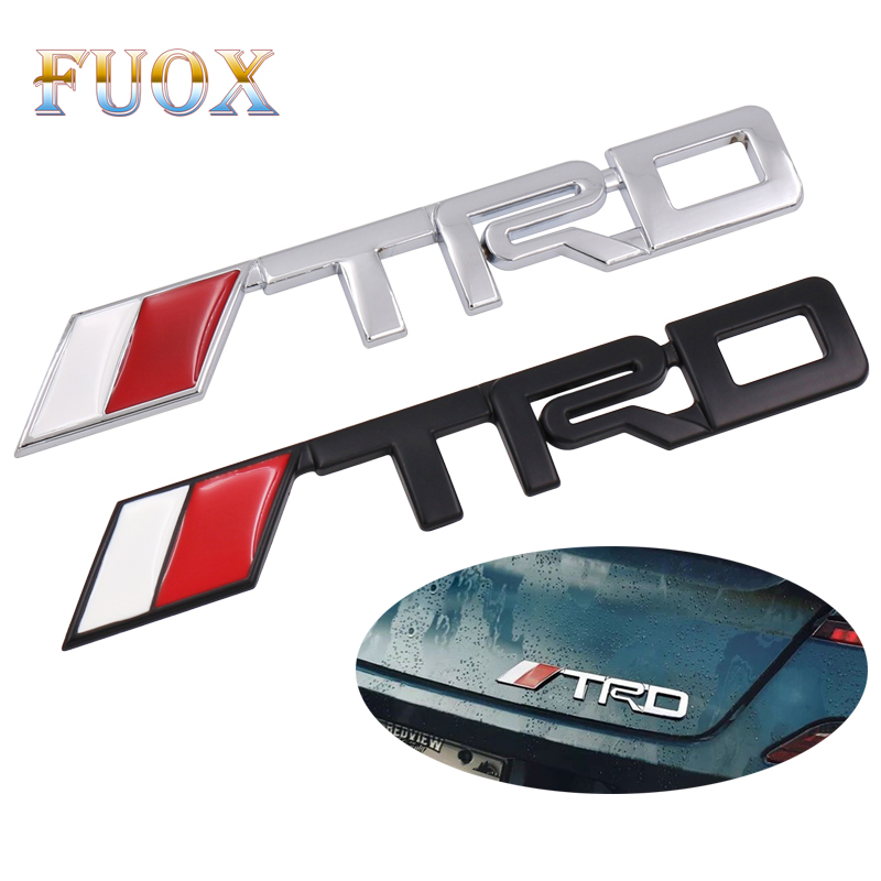 Car TRD Logo 3D Racing Metal Sticker Auto Emblem Badge Decal For Toyota CROWN REIZ COROLLA Camry VIOS Car Styling Accessories car styling car tire valves caps for toyota corolla avensis yaris fj200 prado camry reiz accessories stainless steel car styling