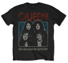Queen Bohemian Rhapsody Freddie Mercury Rock Licensed Tee T-Shirt Men