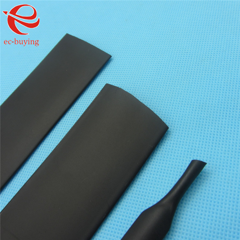 1m Heat Shrink Tubing 25mm Heatshrink Black Tube Inner Diameter Wire Wrap Cable Kit