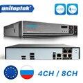 H.265/h.264 4ch 8ch 48 v poe ip câmera nvr sistema de vigilância de segurança cctv p2p onvif 4*5 mp/8*4 mp hd gravador de vídeo de rede