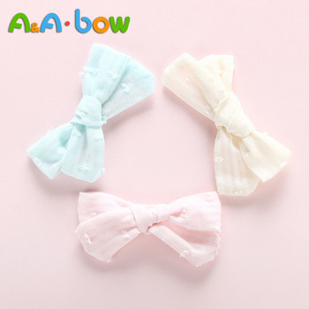 50 pcs lot cute barrette small mini 3cm bow sweet hair clips for girls hair accessories solid dot stripe printing kids hairpins 3Pcs/lot Baby Bow Tie Hairclips Cotton Sweet Cute Solid Hair Clips Girls Hairpins Soft head wear Hair Accessories