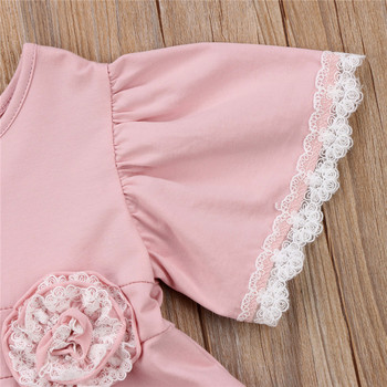 Lace Geometry Dress For Girls 5