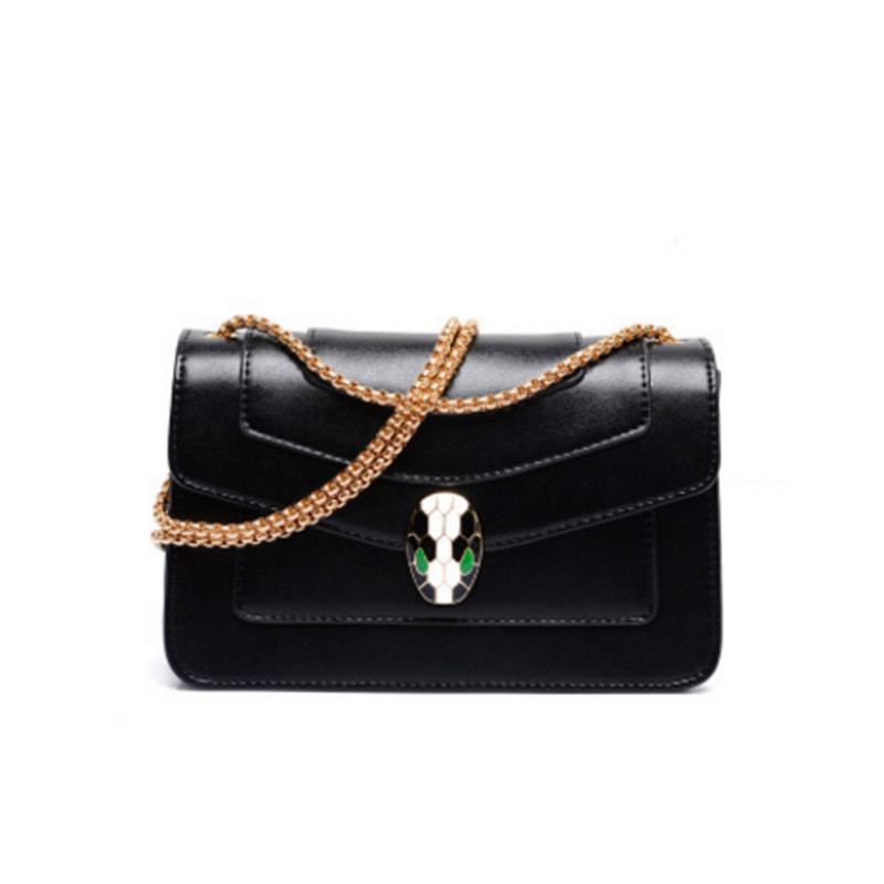 Alligator Famous Brand Enamel Snake Lock Decoration Women handbag 2018 big Luxury Evening Party Clutch Womens leather chain bag