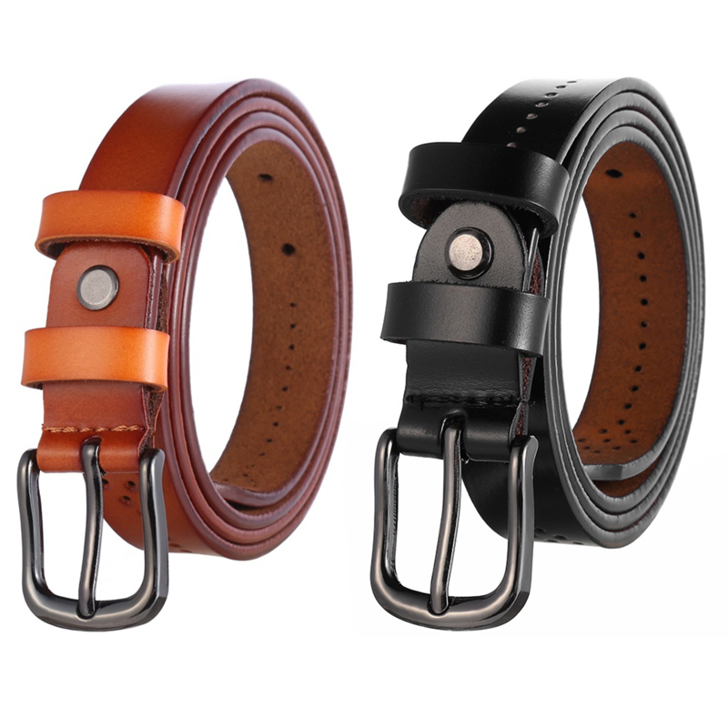 Logical F&u Cow Genuine Leather Belt Luxury Strap Dress And Jeans Belts For Women Fashion Vintage Shining Black Buckle 2 Colors Choice In Pain