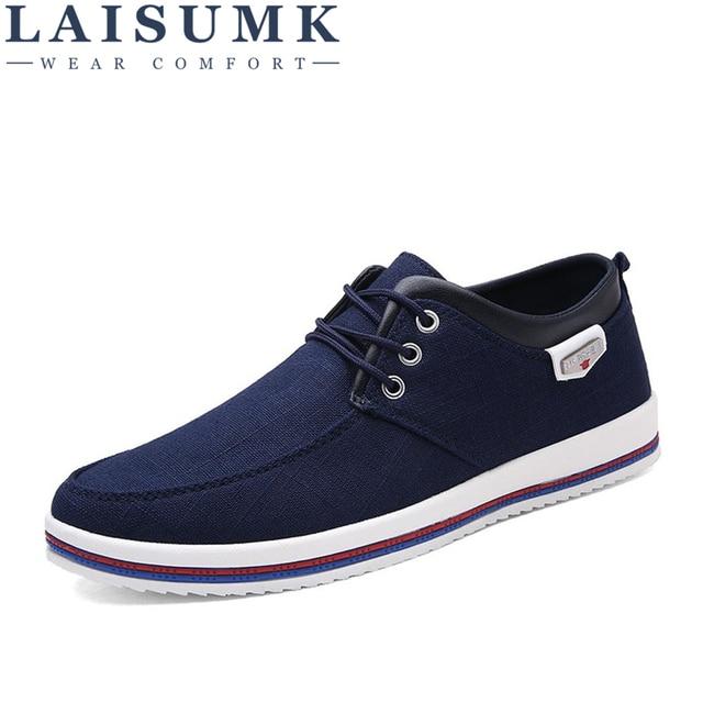 LAISUMK 2019 zapatos para hombre talla grande 39-47 planos para hombre, zapatos casuales de alta calidad para Hombre Zapatos mocasines hechos a mano de gran tamaño para hombre
