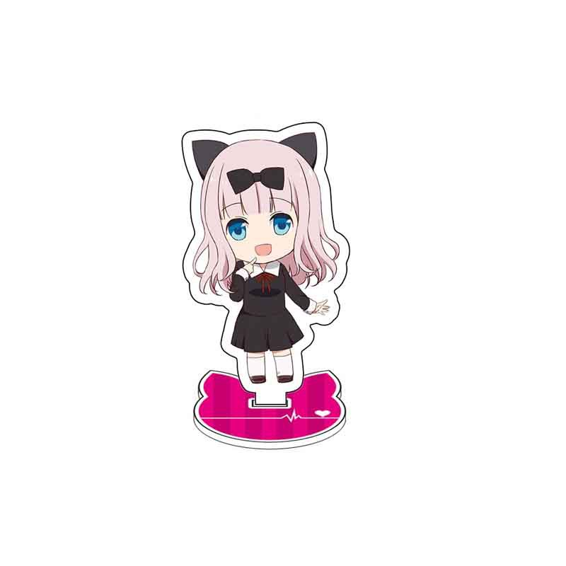 Anime Kaguya-sama: Love Is War Display Stand Figure Model Plate Holder Cartoon Figure Acrylic Collection Jewelry Christmas Gift