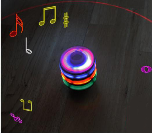 Toy hot-selling music flash spinning top luminous spinning top laser spinning top