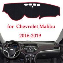 Deska rozdzielcza samochodu unikaj podświetlana podkładka dla Chevrolet Malibu 2016 2017 2018 2019 osłona biurka na platformę maty dywany samochodowe