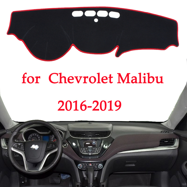 car dashboard avoid light pad For Chevrolet Malibu 2016 2017 2018 2019 instrument platform Desk Cover Mats Carpets Automotive