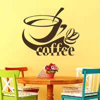 Cup of Coffee Housewares Wall Vinyl Decal Cafe Dining Room Kitchen Coffee