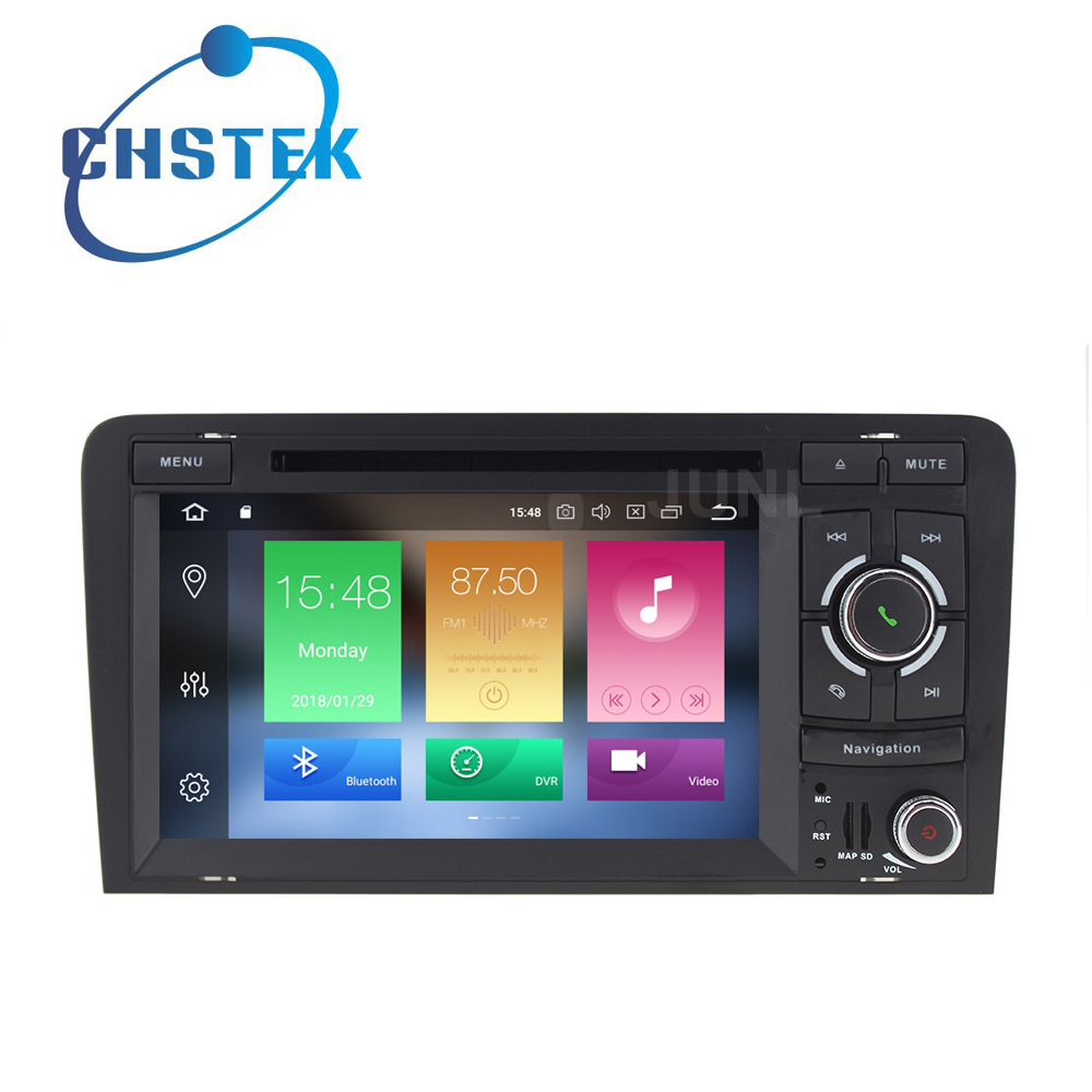 Octa core Android 8.0 Car DVD Multimedia Player for Audi A3 S3 RS3 with WiFi BT stereo Radio GPS 4GB RAM