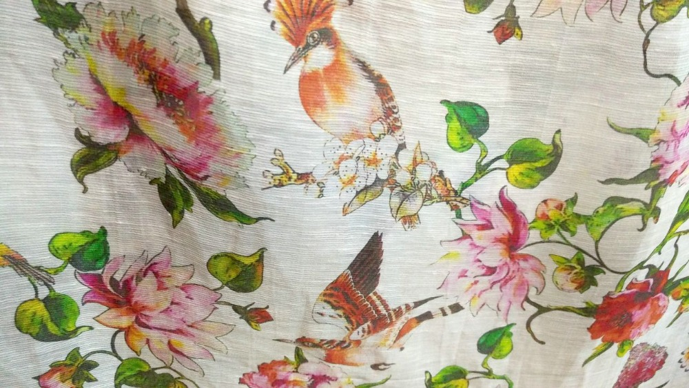 Tissu de lin à coudre de haute qualité tissu tissé rideaux tissu d'ameublement marque Blous offre spéciale robe calico fleurs japon tissu