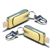Luxury Lightning USB Memory Stick  For iPhone Flash Drive 32G Pendrive 64GB 128GB Pen 16GB iPad Laptop Dekstop PC