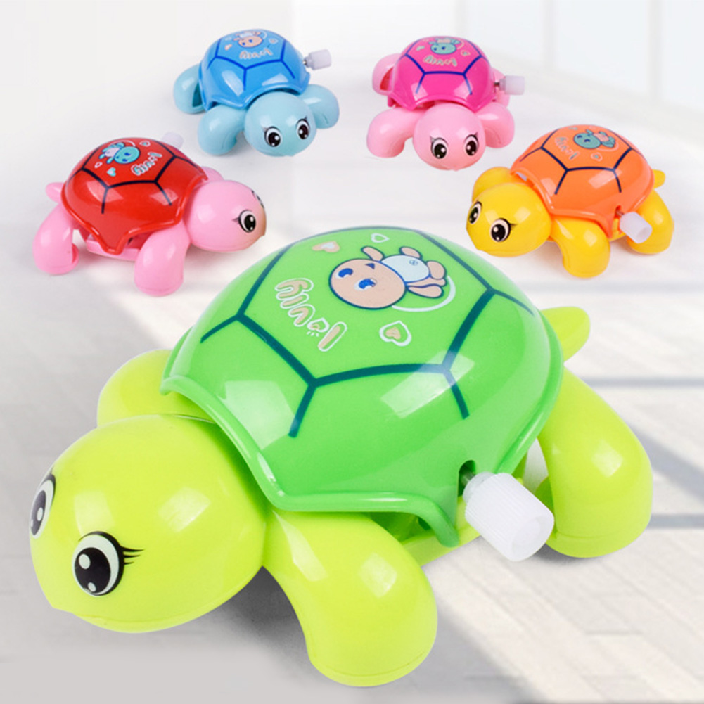 Mini Educational Toy Baby Plastic Funny Intellectual Development Cartoon Turtle Children Cute For Kids Random Color Clockwork
