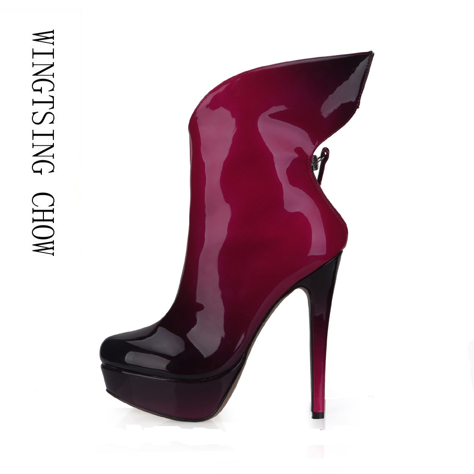 women sexy super high heels platform shoes 2015 elegant red bottom cross strap pumps ladies wedding stiletto shoes mujer zapatos 2016 Winter Red Black Pearl Sexy Party Shoes Women Stiletto High Heels Platform Ladies Mid-Calf Boots Zapatos Mujer 3463BT-d4