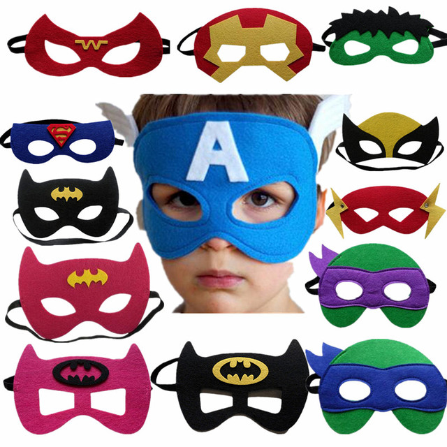 30 Colors Kids Super Hero Cosplay Mask Kids Birthday Party Anime and Movie Cosplay Blinds Halloween Show Dress Up Costume Mask 1