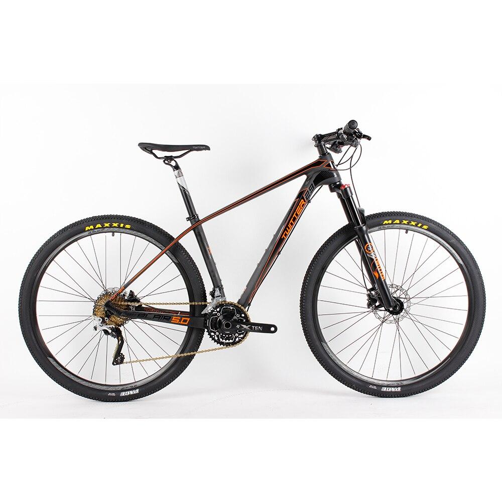 29er Super Light Carbon Fiber Mountain Complete font b Bike b font 30 Speed Oil Brake