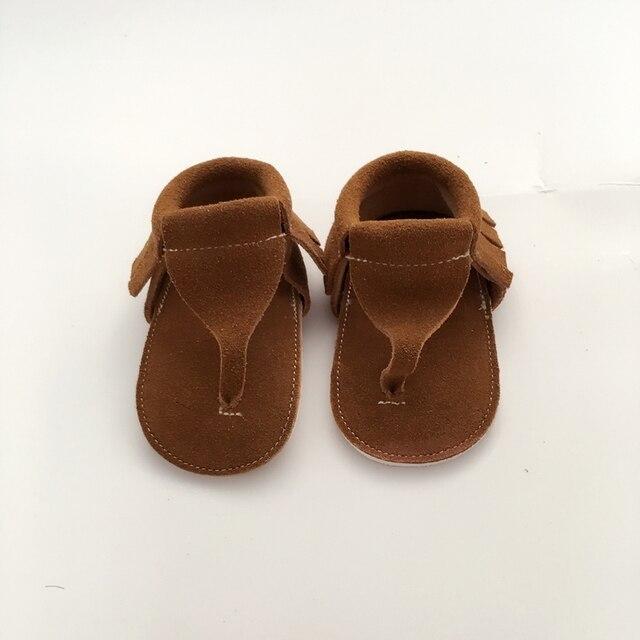 Ручной Тан Сначала Ходунки Натуральной Кожи Детская Обувь
