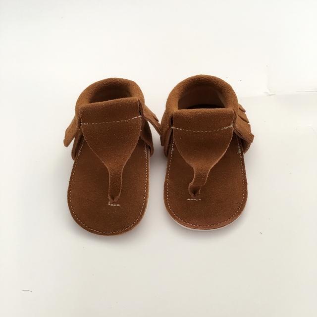 Hecho a mano Marrón Primeros Caminante Zapatos Infantiles de Cuero Genuino