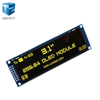 GREATZT Real OLED Display 3.12 256*64 25664 Dots Graphic LCD Module Display Screen LCM Screen SSD1322 Controller Support SPI