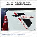 2PC free shipping REAR STICKER TRD SPORTIVO DECAL FOR TOYOTA HILUX VIGO SR5 2005-2014